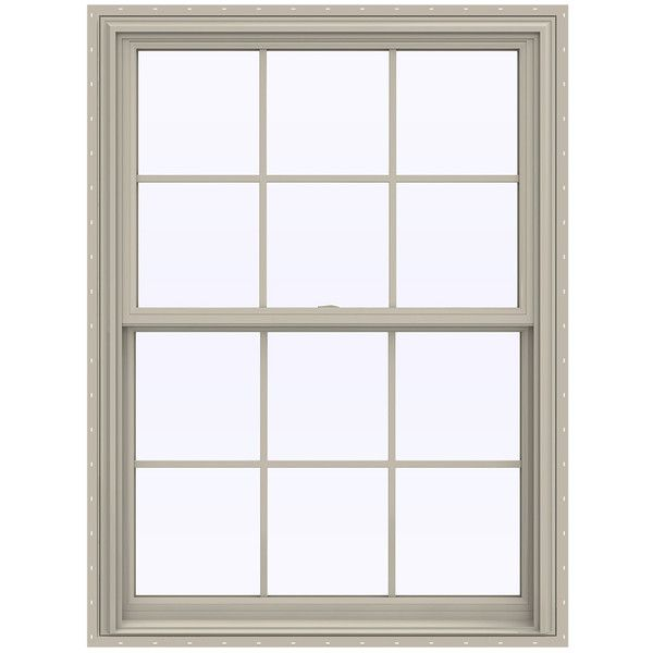JELD-WEN V-2500 Vinyl Double Pane Annealed New Construction Double... (59.335 HUF) ❤ liked on Polyvore featuring home, home decor, window treatments, curtains, window curtains, window drapery, vinyl window treatments and window coverings