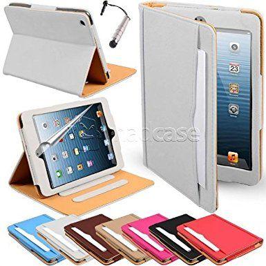 Apple iPad mini Madcase Ledertasche Tasche Etui Cover Case mit Dokument Hülse und Auto Schlaf - Wach Funktion premium Leder - weiß: Amazon.de: Elektronik, 15,95 Euro