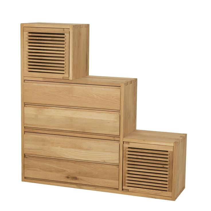 meuble escalier 2 portes et 4 tiroirs en ch ne naturel aronde biblioth ques et tag res. Black Bedroom Furniture Sets. Home Design Ideas