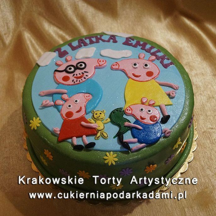 122. Tort świnka Peppa i jej rodzinka. Peppa and family cake.