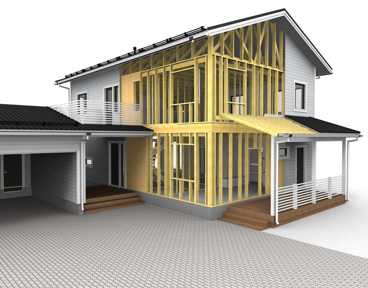 A house mocel, rendereed in Vertex BD