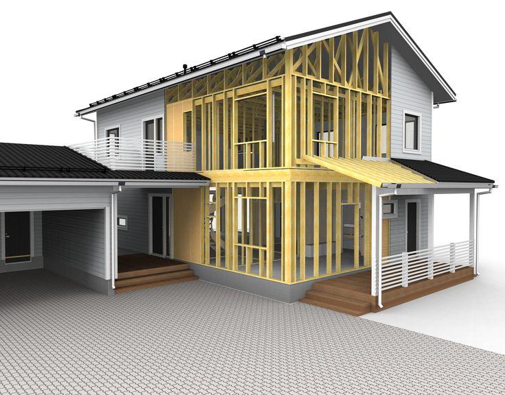 A house mocel, rendereed in Vertex BD