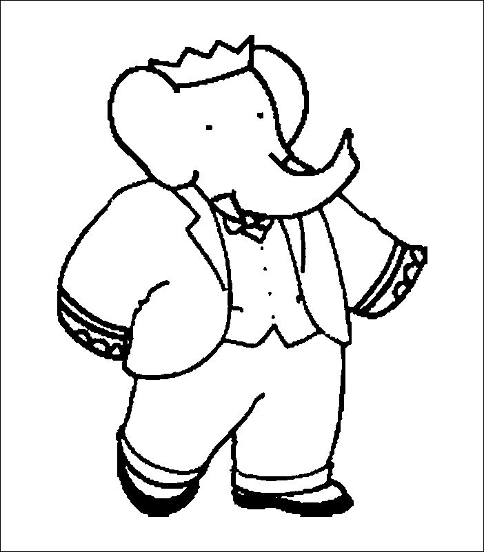 babar 999 coloring pages