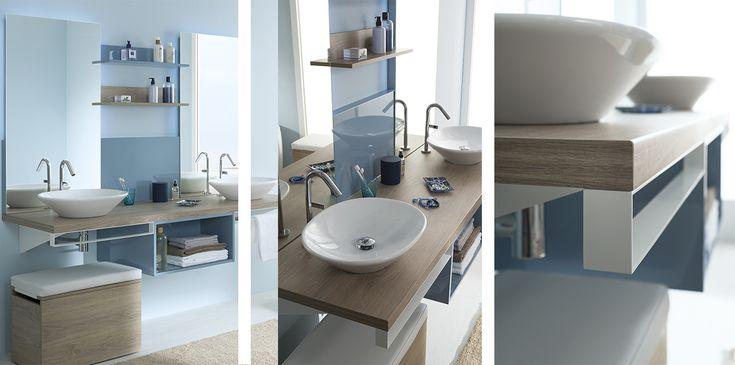 Gamme Mix City, meuble salle de bain contemporain – Sanijura