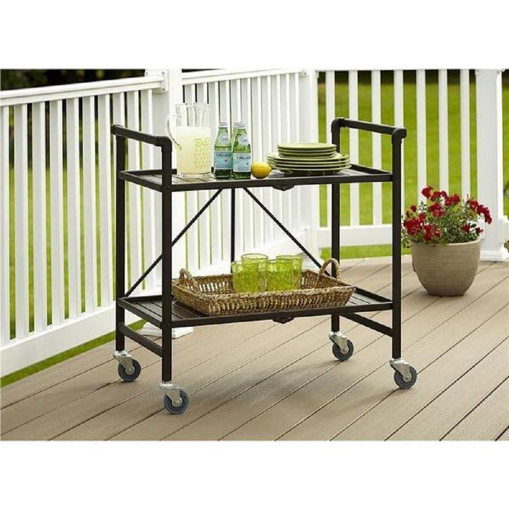 outdoor rolling serving cart