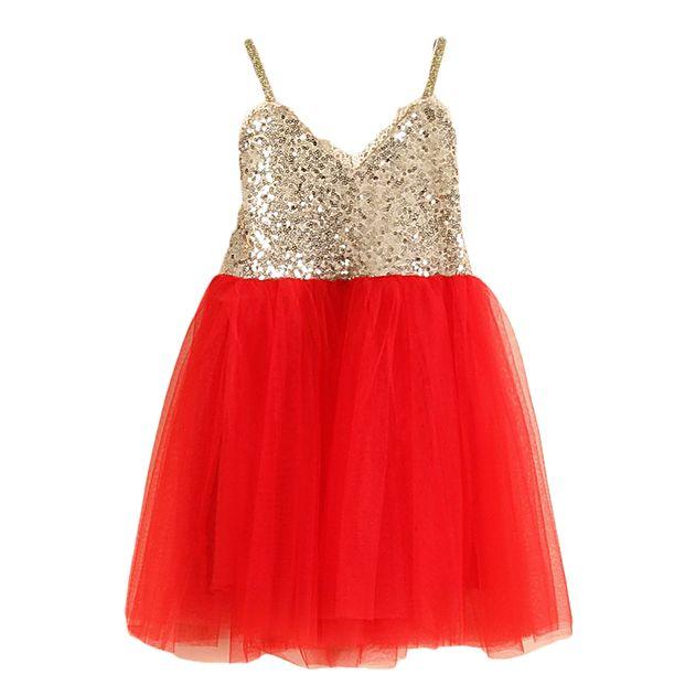 Virkotie RED GOLD Tutu Dress www.virkotie.com