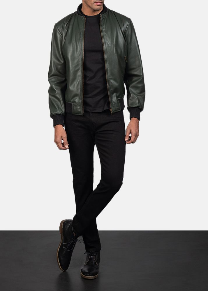 f1fc30684 Shane Green Leather Bomber Jacket in 2019 | Men's Leather Jackets By ...