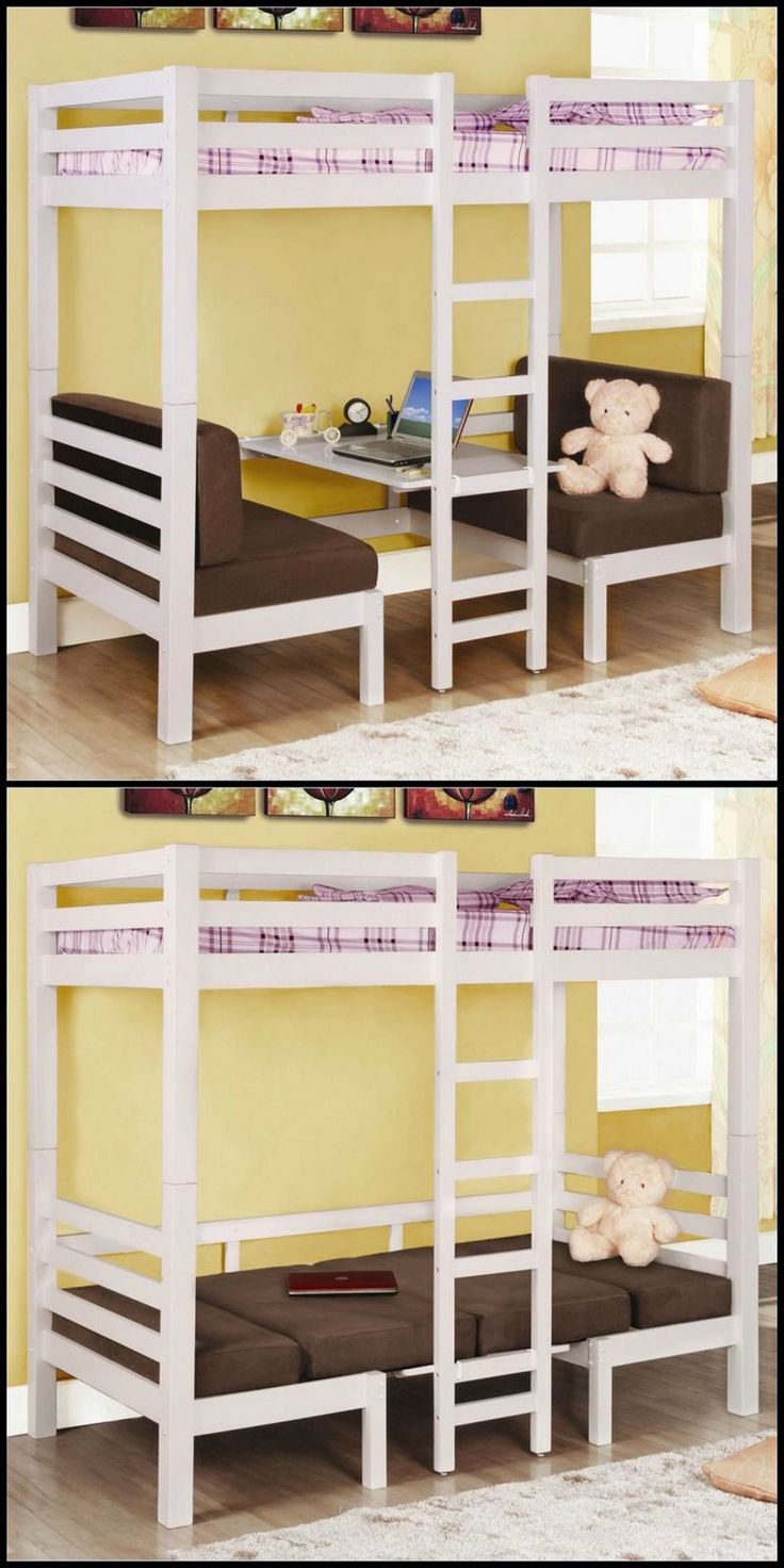 "This convertible loft bunk bed really does have the makings of a great design.  This is just one of the gazillion bunk beds we have in our ""Bunk Beds"" gallery http://theownerbuildernetwork.co/iv75  Any ideas on how this can be improved?"