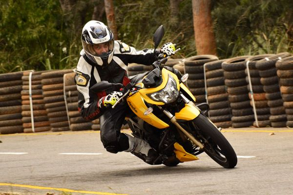 We got behind the handlebars of TVS' flagship Apache RTR 200 to bring you an early assessment, straight from the manufacturer's test track at Hosur.