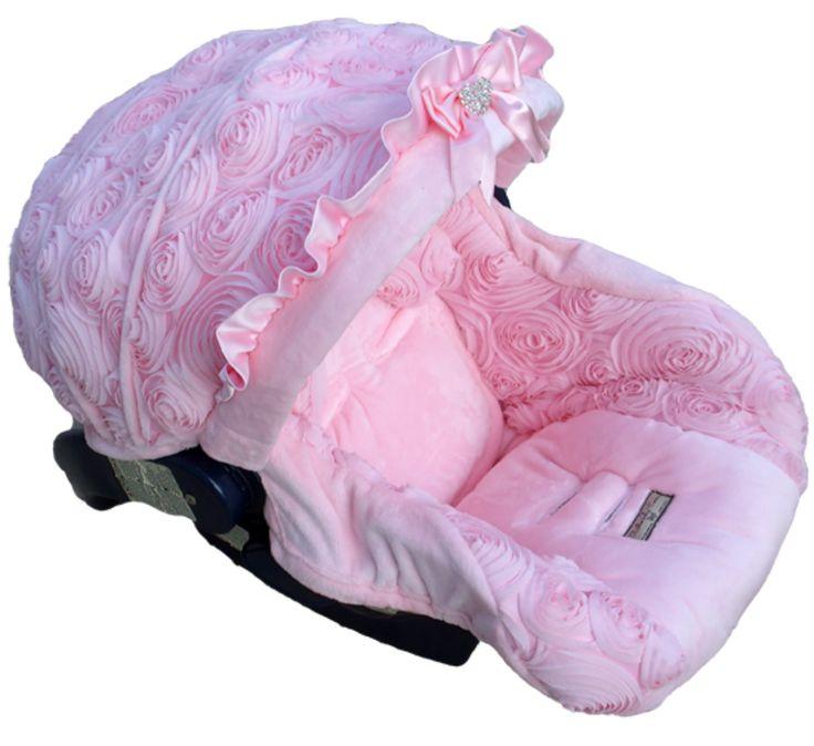 baby crystal rose infant car seat cover 1nc bcr. Black Bedroom Furniture Sets. Home Design Ideas