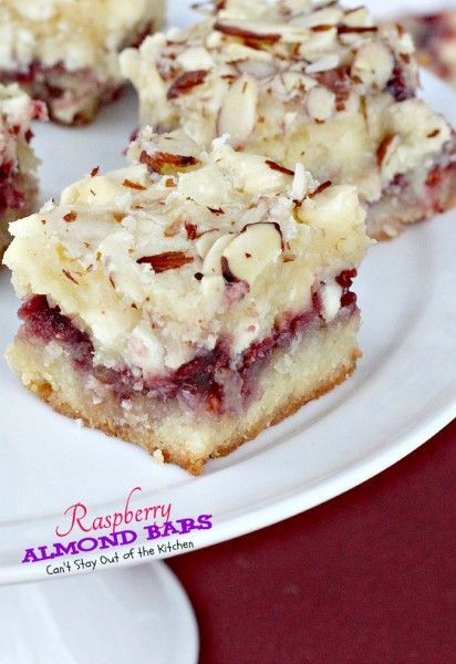 Raspberry Almond Bars | Can't Stay Out of the Kitchen | absolutely spectacular #cookies that are to die for!