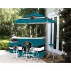 Best of Times Jacksonville Jaguars All-Weather Patio Bar Set with 6 ft. Umbrella
