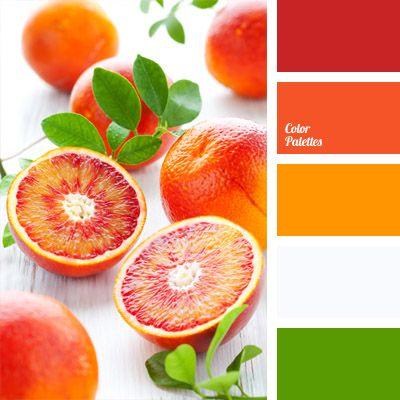 Os tons cítricos sicilianos (vermelho, vermelho alaranjado e laranja) combinam naturalmente com o verde e o cinzento claro. Uma palete perfeita para tecidos naturais!