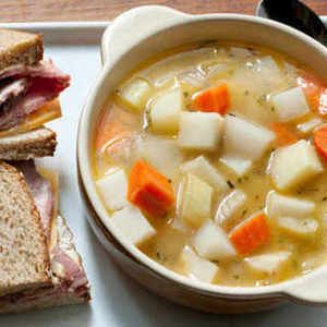 Seven Vegetable Soup Recipe (contains artichokes, parsnips, fennel, and turnip...)