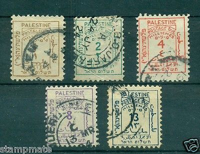 PALESTINE 1923 POSTAGE DUE STAMPS D1-SG1/5 USED - bidStart (item 57015458 in Stamps... Palestine)