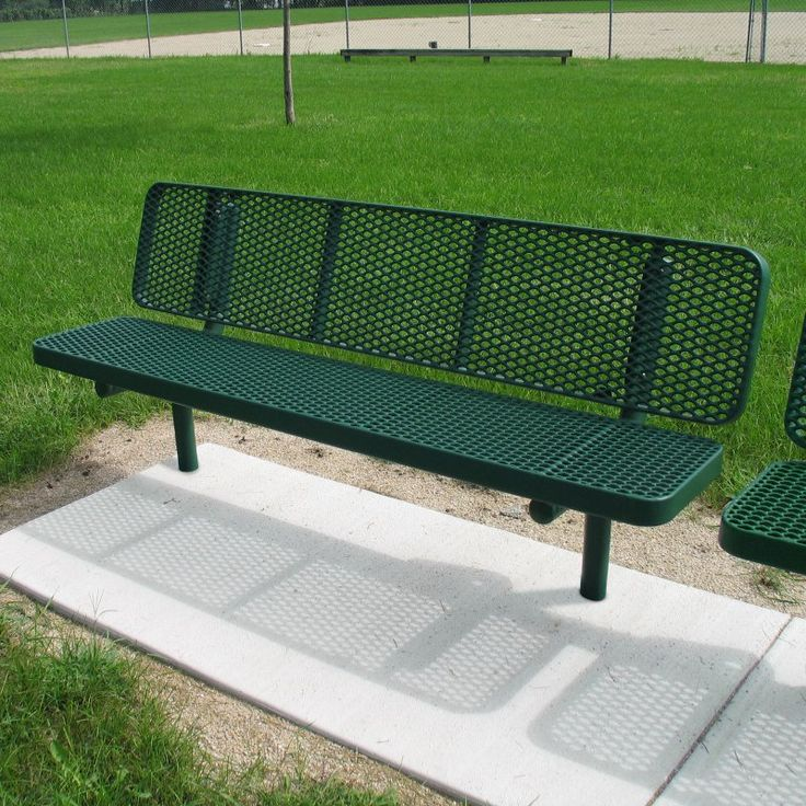 Outdoor Premier Polysteel Commercial Champion Supreme Inground Park Bench    936 302 RED