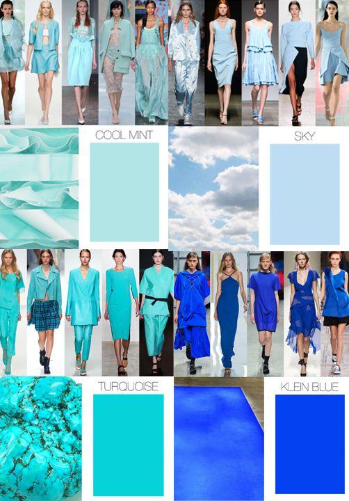 Trend Council:  COLOR FORECAST - Spring 15 Blues