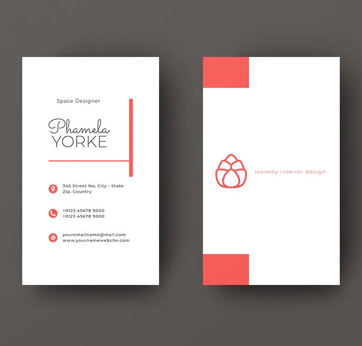 Vertical Business Card Template Psd Vector Eps Ai Vertical