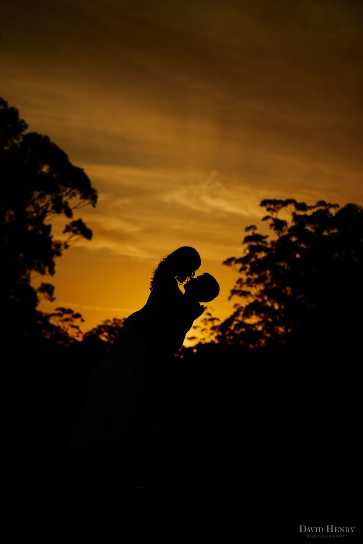 Sunset silhouette at Wedding photos at Pymble Golf Club