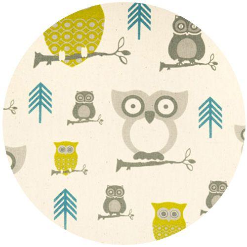 Owl fabricFirst Prints, Ideas, Nurseries Fabrics, Hootie Summerland Nature, Owls Fabrics, Night Owl, Baby, Hootie Owls, Prints Hootie