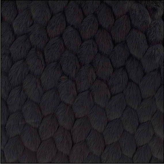 Fabric faux fur VOGUE black fabrics nadège 1/2 meter
