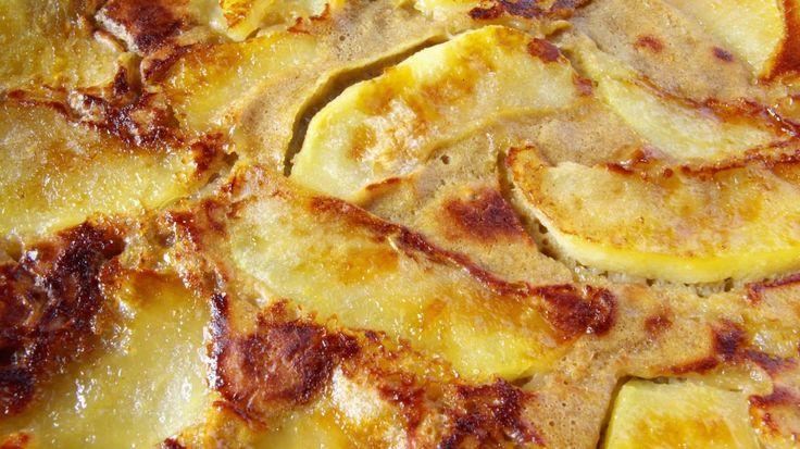 Apfelpfannkuchen vom Blech