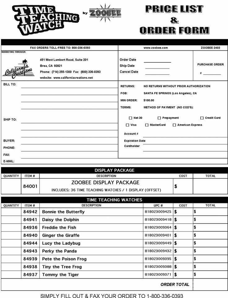 order forms templates wholesale order form 2 10 from 1 votes - sample order form