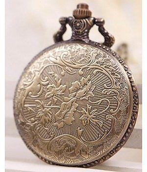 Bronze Ketting Zakhorloge Stoomtrein Patroon Artikelnummer:C14D00153R3