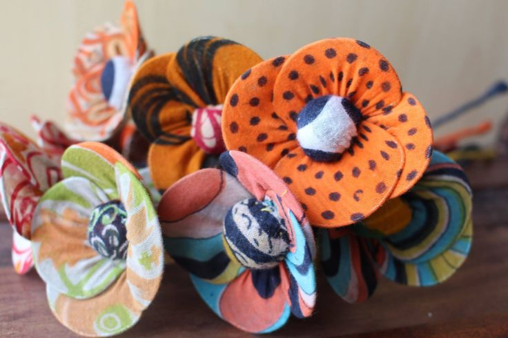 Recycled Sari Flowers - Wonderful for Home Decor!