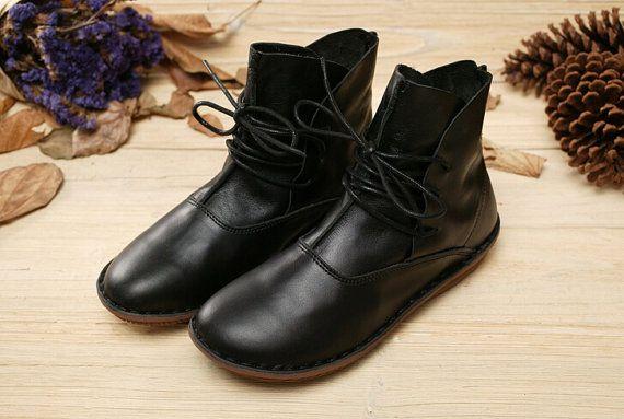 Scarpe fatte a mano Stivali alla caviglia Oxford scarpe di HerHis