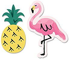 Pink Flamingo Birthday Party - tropical pool party for girls with DIY tutorials for printable Flamingo Favor bags and bow napkin rings.
