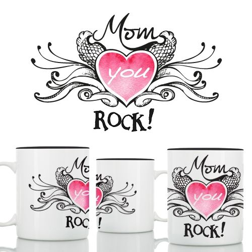 mom you rock mug Because mothers are the beginning of all stories! A Unique gift for the cool Mom that rocks!  The perfect gift for mother's...