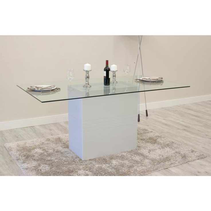 Amazing Off White Sleek Tempered Glass Table Top, Beige