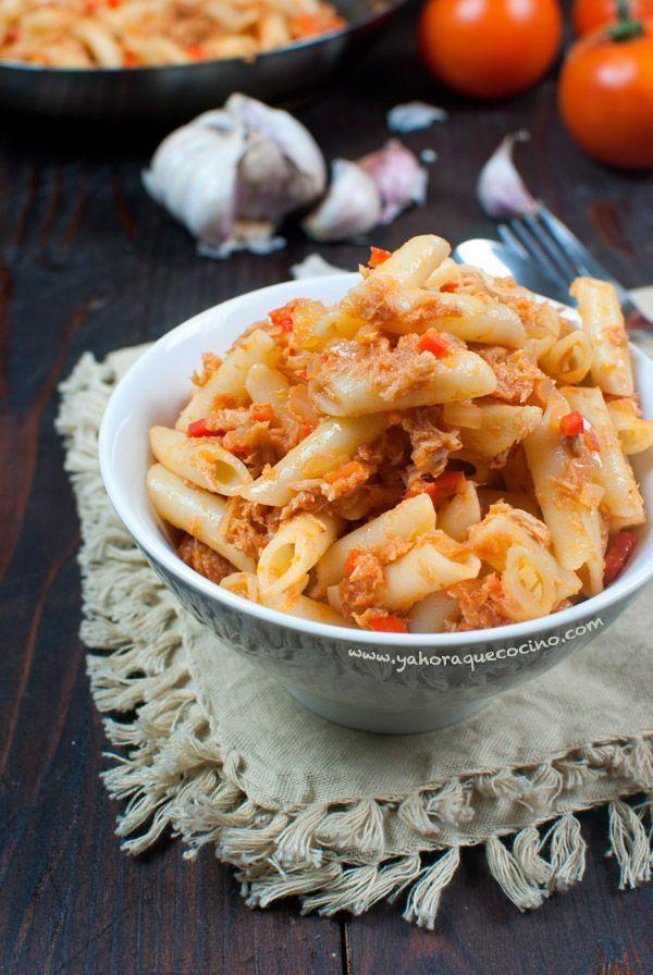 Macarrones con Atún Esta receta es tan fácil y rápida de preparar que te…