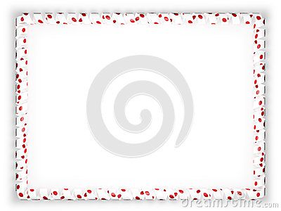 Frame and border of ribbon with the Japan flag. 3d illustration.