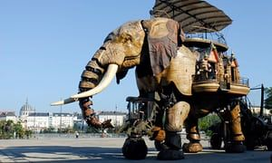 The three-storey elephant, part of Les Machines de l'île for Le Voyage à Nantes.