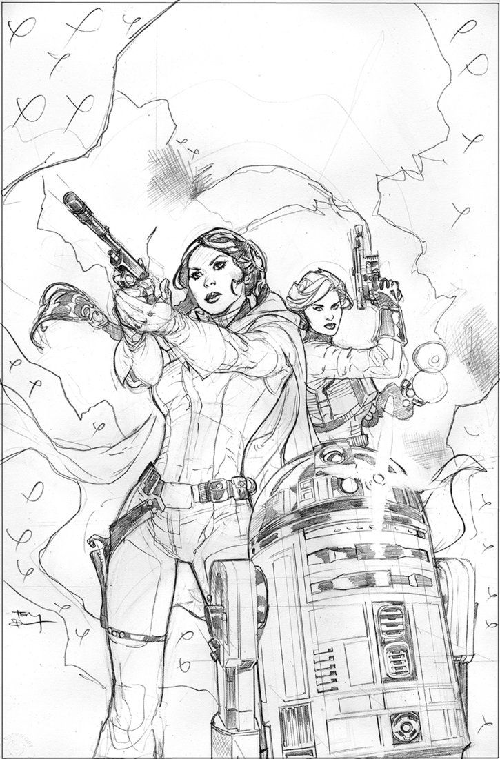 Star Wars Princess Leia Cover Pencils by TerryDodson on DeviantArt