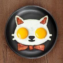 1 шт. Кухня Силиконовые Кошки Яйцо Shaper Кошки Яичница Плесень Милые Интересные Формы(China (Mainland))