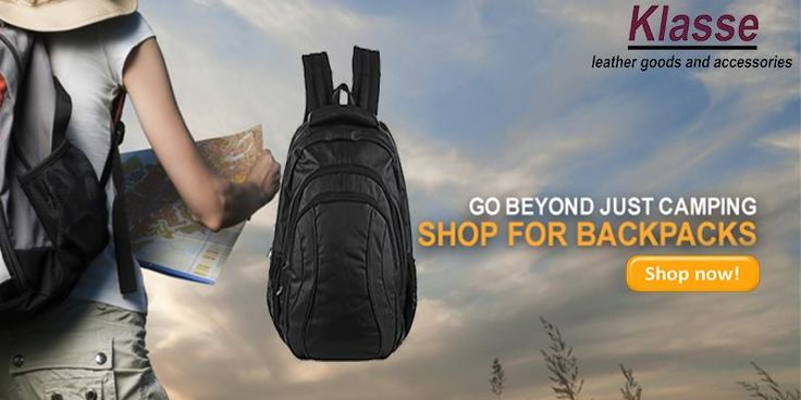 Go Beyond Just Camping. Shop online for #Backpacks at www.klasseleather.in. Hurry!