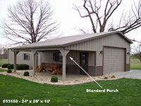 Standard Porches | Buildings Structures Metal Steel Pole Barns Sheds