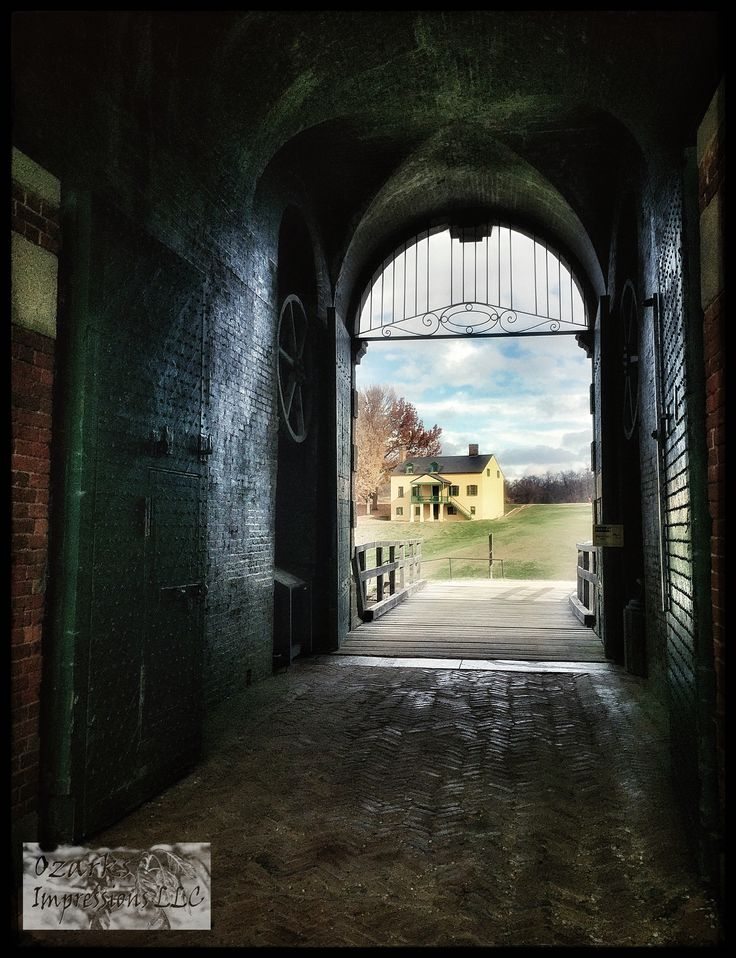 Looking out the entry gate of Fort Washington.  Fort Washington, Maryland.