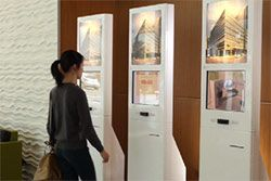 iKiosks seen at the University of the Pacific. Read about this kiosk project by clicking here: http://www.advancedkiosks.com/company-news/ikiosks-gateway-to-dental-facility-2014.php
