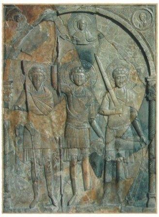 Картинки по запросу три святых воина и коронующий их христос херсонес