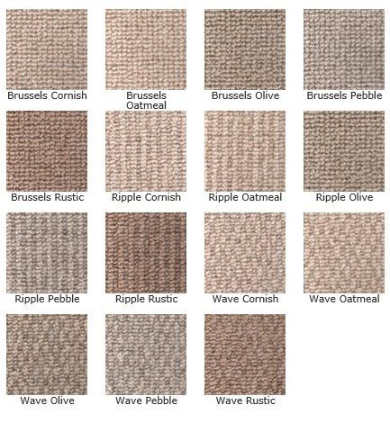 KINGSMEAD BERBER TRIO 100% Wool loop carpet in 3 designs, available in 4 & 5m Widths