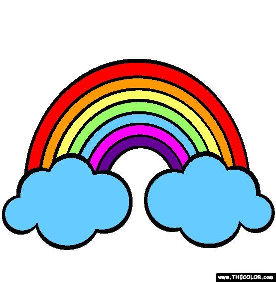 Rainbows Coloring Page