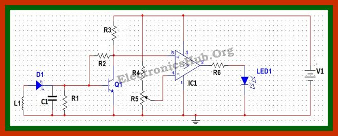 Air Flow Detector Project Circuit Diagram For detailed information, visit http://www.electronicshub.org/air-flow-detector-circuit/