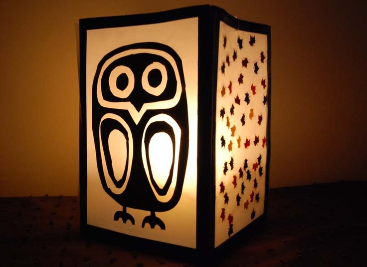 owl paper lantern - from Pins & Pens