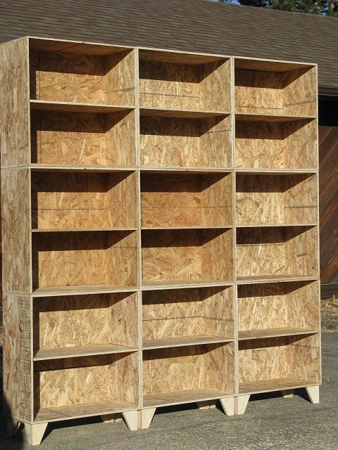 Modular Osb Bookshelf Unfinished 3 By 3 Via Etsy