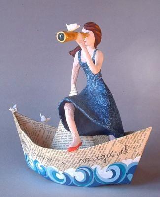 El barco (papel maché)