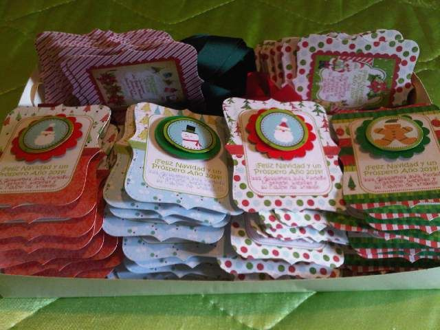 Christmas wine bottle tags